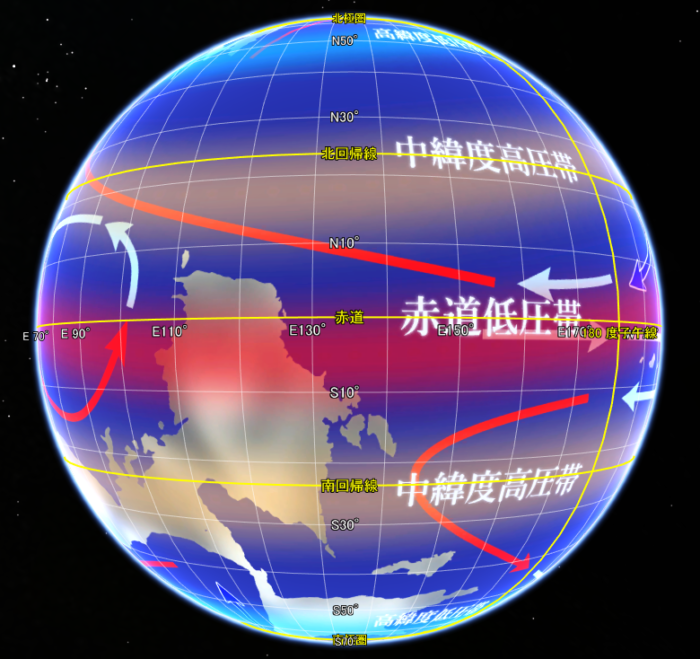 異世界ファンタジーRPGのワールドマップ(Google Earth 版)